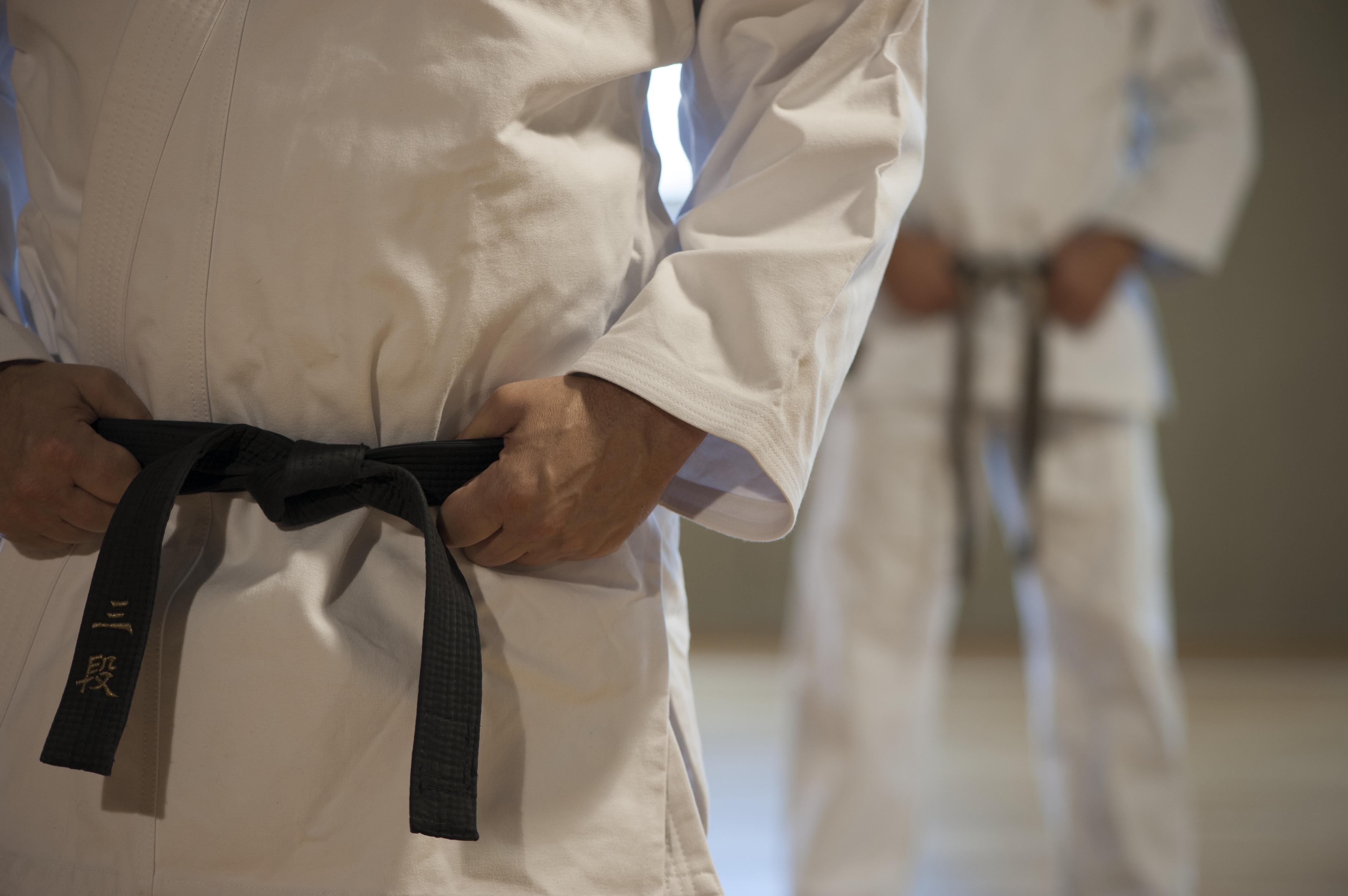 Adult karate black belts