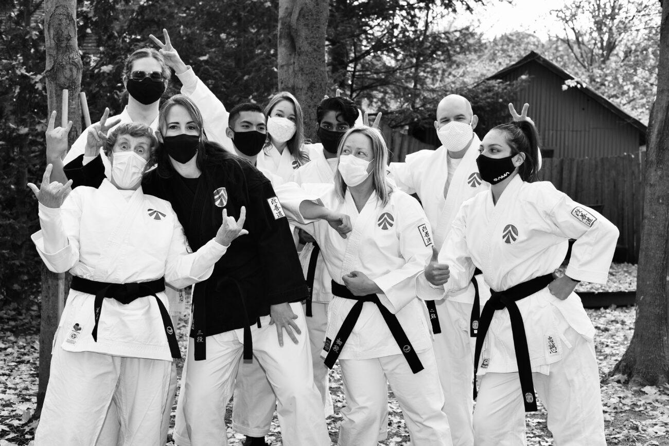 Adult group karate fun